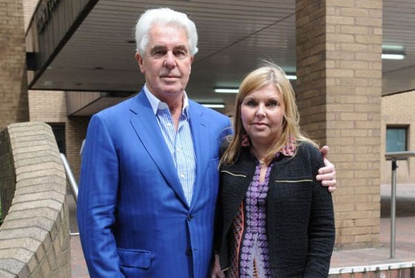 May he get the Max - Convicted and now jailed paedophile Max Clifford with his daughter Louise Clifford in 2014
