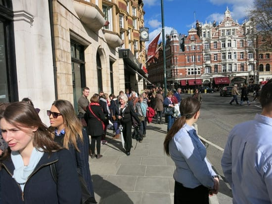 Customers and staff were evacuated into Sloane Square
