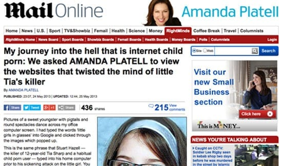 Amanda Platell's article, published on the Mail Oline on 25th May 2013