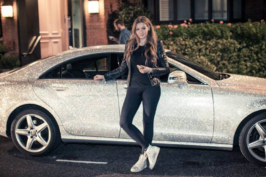 Down Balling – Daria Radionova – Publicity seeking 24-year old Russian brat with a passion for crystal covered cars tones down