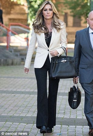 Shovingtini – Real Housewives of Cheshire participant Dawn Ward in court to face allegations that she shoved the pop singer Sinitta Malone at Salmontini in Belgravia, London