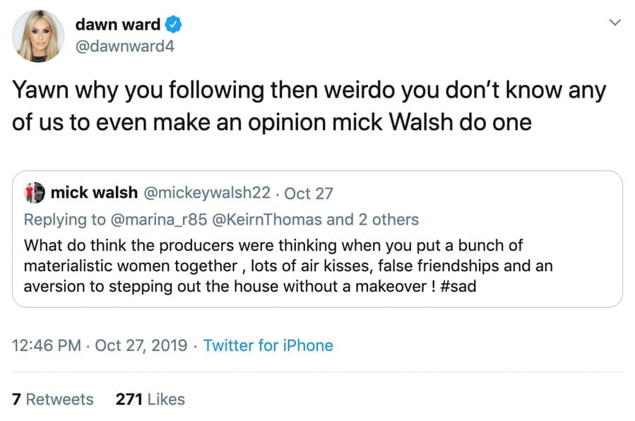 "Do One Dawn – Real Housewives of Cheshire's Dawn Ward and ""do one"" – ""Napkin slapper"" Dawn Ward again proves herself to be a common degenerate in using the phrase ""do one."""
