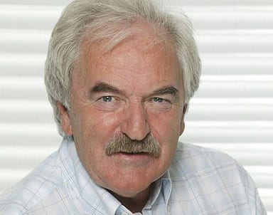 Former sports presenter Des Lynam