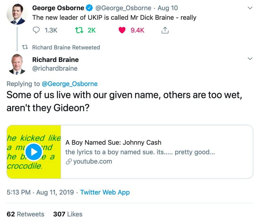 Moron of the Moment – New UKIP leader Dick Braine is deservedly mocked for his unfortunate name, but the reality is that he's deranged and delusional.