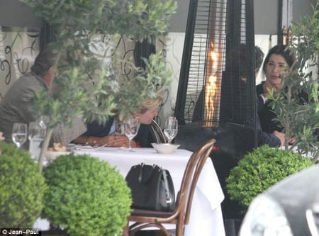 Diners look on in horror as Charles Saatchi allegedly chokes his wife Nigella Lawson at Scott's
