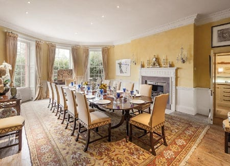 The dining room is perfect for grand scale entertaining