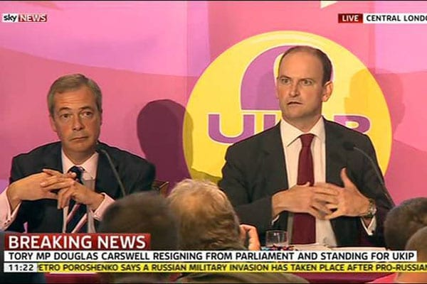 Douglas Carswell's defection to UKIP was a foolish move on his part