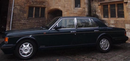 Dr Moulton's 1997 Bentley Brooklands is to be sold as well