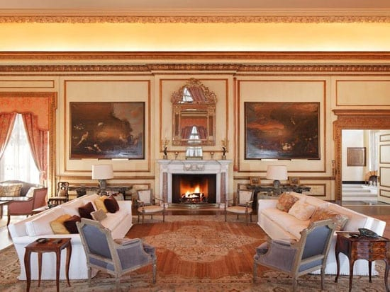 One of many reception rooms in this vast residence