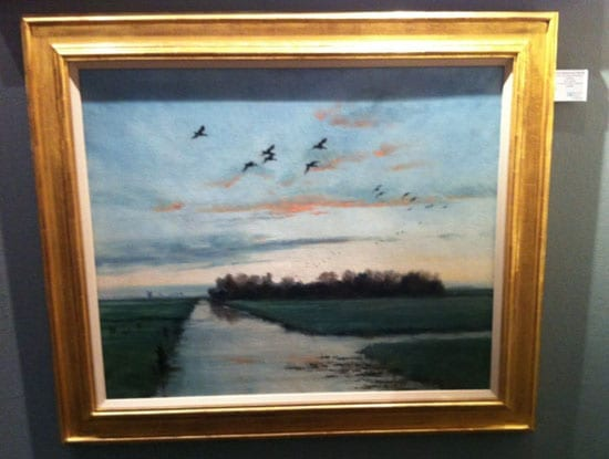 """""""Ducks returning to the decoy at daybreak"""" by Sir Peter Scott"""