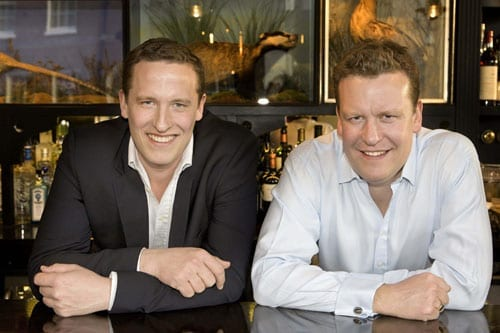 Brothers and business partners Ed and Tom Martin, founders of the ETM Group