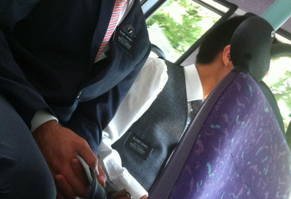Elder Zhao and his fellow Mormon will probably keep quiet on buses henceforth
