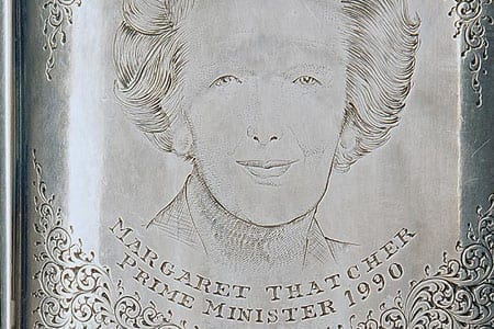 A closeup of the engraving by Purdey & Sons' Marcus Hunt