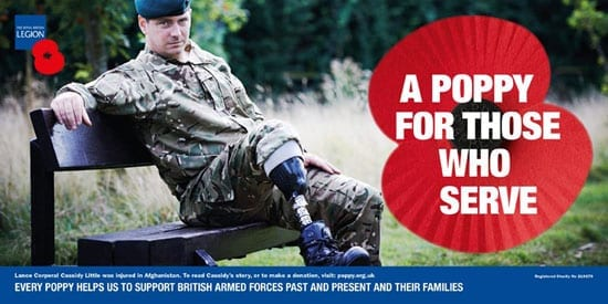 Every poppy sold helps The Royal British Legion to support forces past and present and their families
