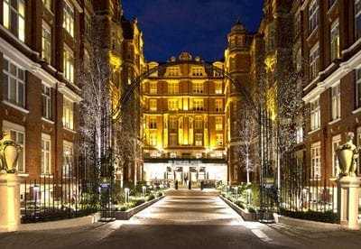 The courtyard entrance to the St. Ermin's Hotel, 2 Caxton St, London, SW1H 0QW