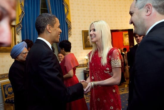 Michaele and Tareq Salahi crash a party hosted by President Obama at The White House