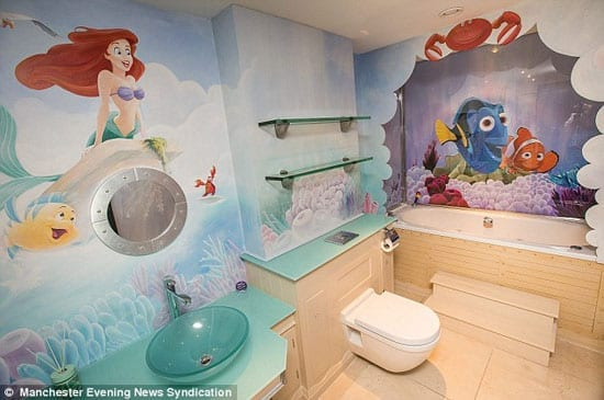 "Equally, a ""Finding Nemo"" and ""Little Mermaid"" themed bathroom might be equally unappealing"