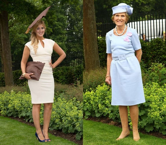"""Made in Chelsea's"" Francesca Hull dresses like a chocolate whilst cake baking Mary Berry looks like she's set to serve tea"