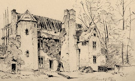 Garden front of The Old Rectory by Charles Henry Money Mileham 1837 1917