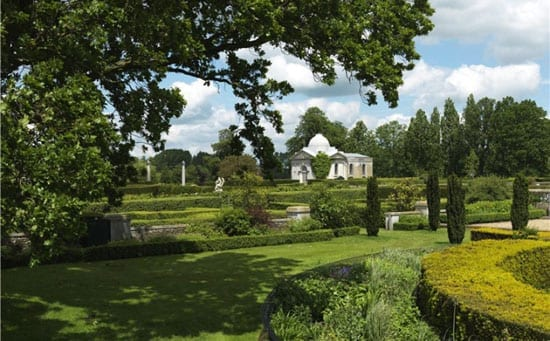 The formal gardens of Tyringham Hall are truly spectacular