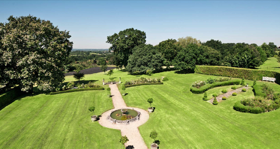 Nazeing Park's 68 acres includes elegant formal gardens