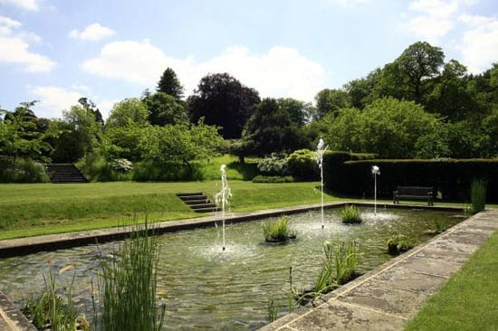 The 71 acre plot includes landscaped gardens and woodland