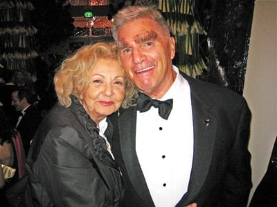 George Gund III with Tosca Cafe owner Jeanette Etheredge