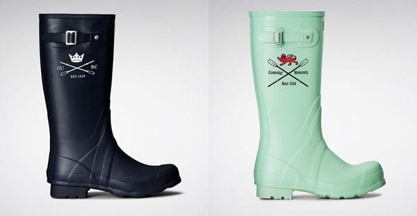 Give it some welly – Lance Tredell of Cambridge University Boat Club features in an advertising campaign for this year's official Boat Race wellington boots by Hunter