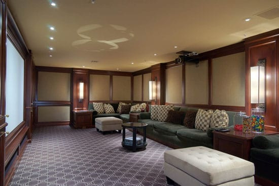 Given 2622 Jackson Street is owned by a film director there is of course an obligatory cinema screening room