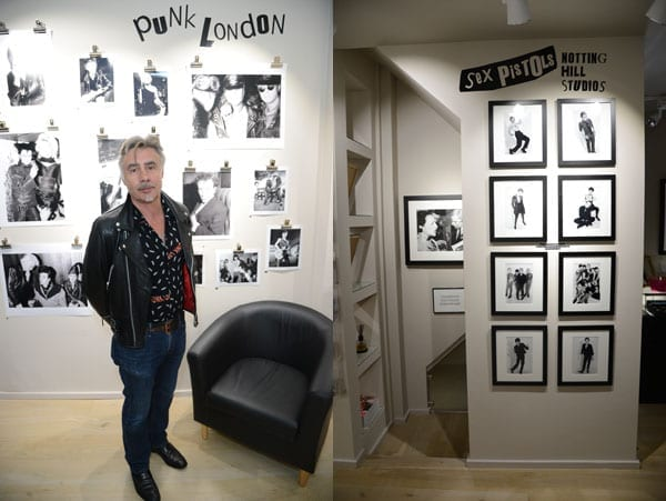 Anarchy in the UK – Richard Young Gallery Exhibition and Private View – #PunkLondon – Richard and Susan Young – Glen Matlock – Charlie Gilmour – Nancy Dell'Olio – Daniel Lismore – Matthew Steeples – The Steeple Times