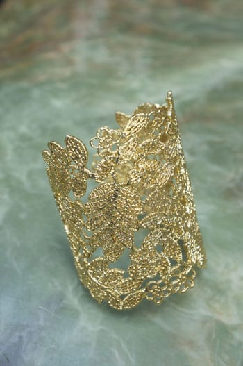 A gold-plated lace cuff by Stella & Dot: one of Naylor3's bestselling items