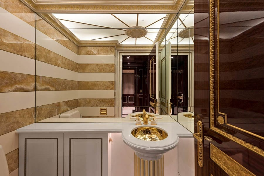 Trump Gold – Gaudy apartment #47BC, Trump International Hotel and Tower, One Central Park West, 15 Columbus Circle, Upper West Side, New York, NY 10023 – £27.6 million ($34.5 million, €32.4 million or درهم126.7 million) through Knight Frank – Reduced from £32 million ($40 million, €37.6 million or درهم146.9 million)