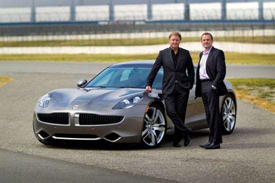 Fisker Automotive co-founders Henrik Fisker and Bernhard Koehler