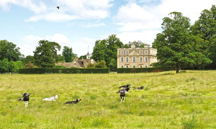 A Magnificent Manor – £8.5 million ($10.9 million, €10 million or درهم40.2 million) for Hinwick House, Podington, Wellingborough, Bedfordshire, NN29 7JE, United Kingdom through agents Savills – Grade I listed Queen Anne manor house in Bedfordshire for sale for a sum 41% lower than it was offered for in 2016.
