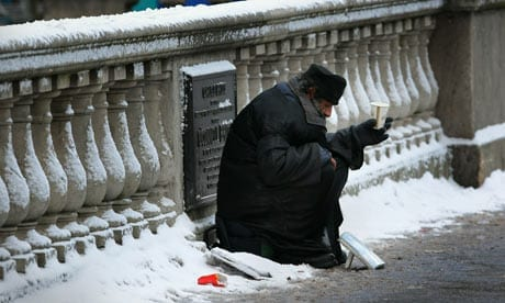 The homeless are especially vulnerable when it snows