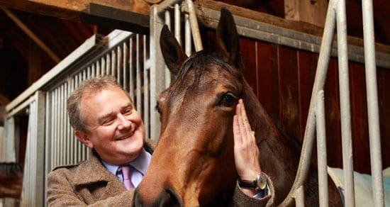 Hugh Bonneville is a member of the Highclere Thoroughbred Racing Petrushka Syndicate