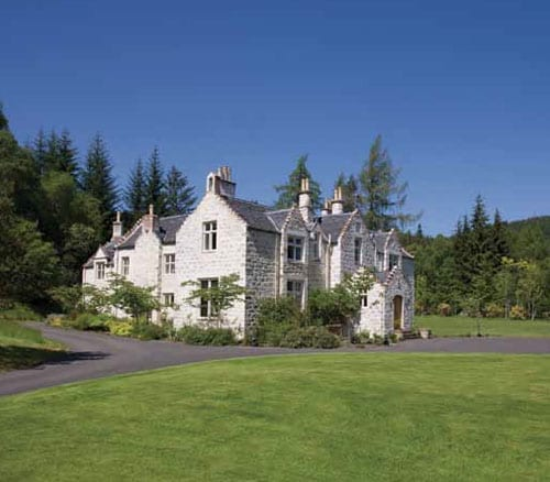 The original hunting lodge on Eilean Aigas