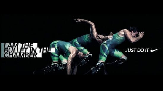"""Picture of the week: Oscar Pistorius in Nike's """"I am the bullet in the chamber"""" advertisement"""