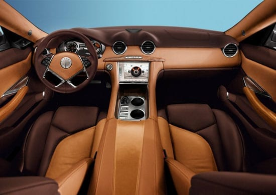 The Fisker Karma's interior was as innovatively designed as the exterior