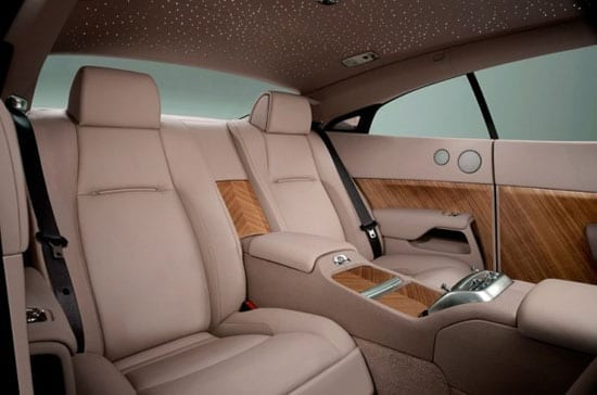 The interior of the car is in exemplary order
