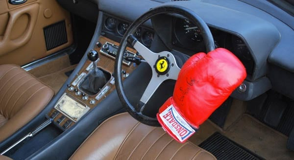 Boxing above its weight? Ex Sir Henry Cooper OBE 1973 Ferrari 365 GT4 2+2 for sale for 126% more than it sold for in 2015 – Coys 'True Greats' sale, London, Monday 5th December 2016 – £55,000 to £70,000 ($69,500 to $88,500 or €65,300 to €83,100 or درهم255,400 to درهم325,100)