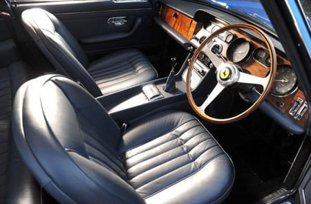 The restored interior of the vehicle