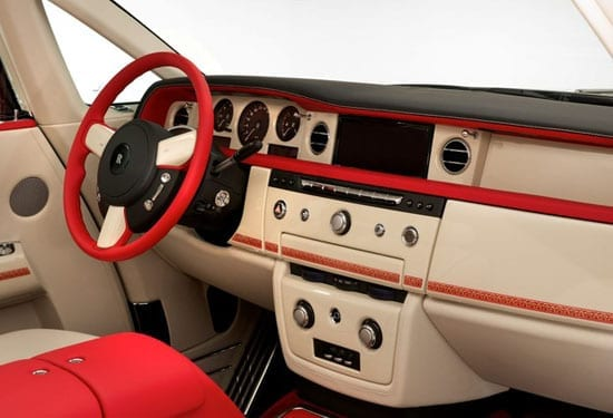 The interior of the vehicle