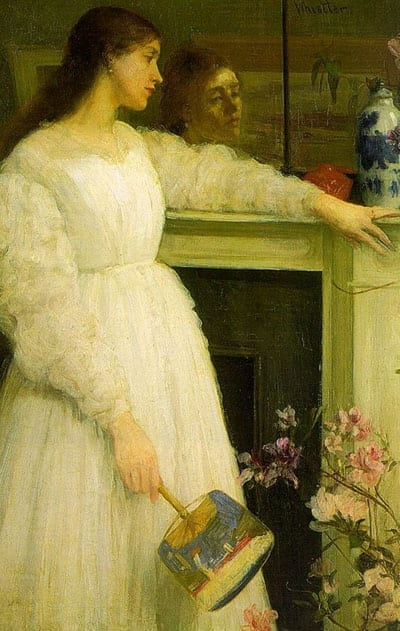 """James Abbott McNeill Whistler's """"Symphony in White, No 2: The Little White Girl"""" was painted in the house"""