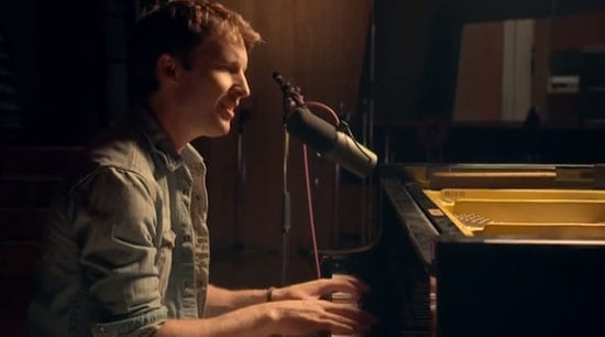 """James Blunt plays the piano in a video for a video for his song """"Sun on Sunday"""""""