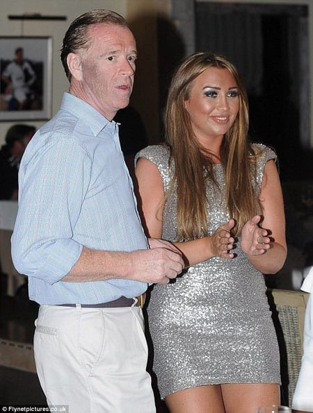 James Hewitt with Lauren Goodger at Polo House