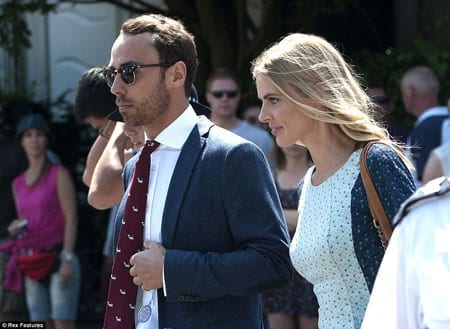 Amongst others present were The Duchess of Cambridge's brother James Middleton and his girlfriend Donna Air
