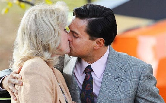 Joanna Lumley and Leonardo DiCaprio in 'The Wolf of Wall Street'
