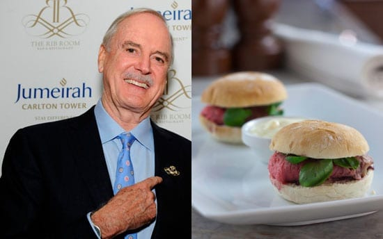 John Cleese at the Jumeriah Carlton Tower and The Cleesburger named after him