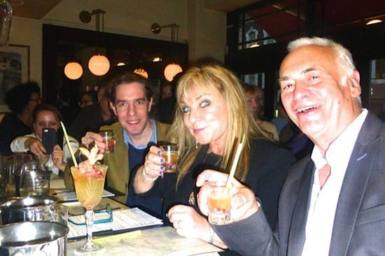 Judges Matthew Steeples, Helen Lederer and Peter Godwin with the winning drink